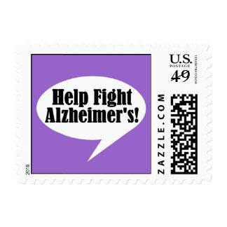 Los sellos de Alzheimer de la lucha de la ayuda
