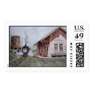 Los sellos de la estación de tren
