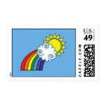 Los sellos de la parte positiva - arco iris Stamps