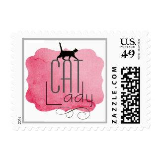 Los sellos de Purrfect del gato de la señora
