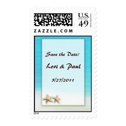 Los sellos de USPS - ahorre el boda de playa de la