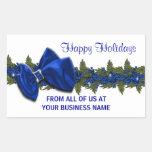 Los sellos del saludo del negocio del navidad rectangular altavoz