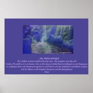 Los señores Prayer Poster por Sherri del Palm