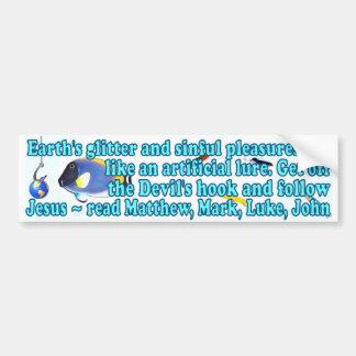 Los señuelos del mundo etiqueta de parachoque