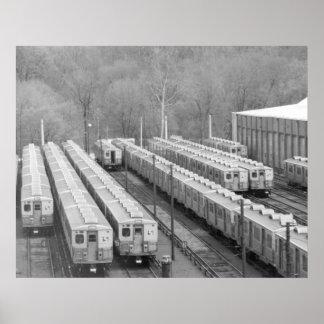 Los septos transitan la línea coches de Frankford Póster