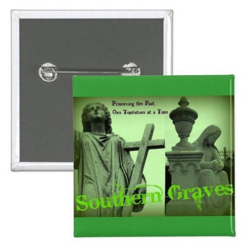 Los sepulcros meridionales van verde pin cuadrada 5 cm