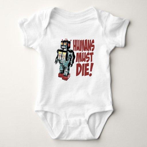 Los seres humanos deben morir camiseta