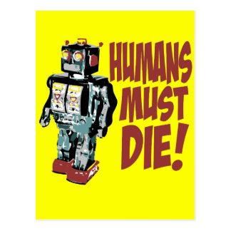 Los seres humanos deben morir tarjetas postales