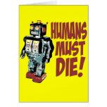 Los seres humanos deben morir tarjetón