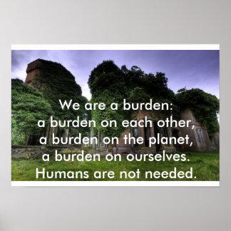 Los seres humanos no son poster necesario