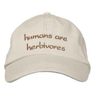 los seres humanos son herbívoros gorra de béisbol