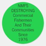 Los servicios marinos nacionales de las industrias pegatina redonda