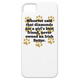 Los setteres irlandeses son el mejor amigo de un iPhone 5 funda