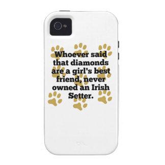 Los setteres irlandeses son el mejor amigo de un iPhone 4 fundas