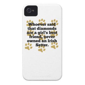 Los setteres irlandeses son el mejor amigo de un Case-Mate iPhone 4 carcasa