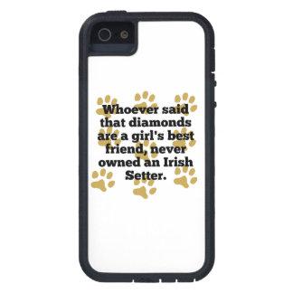Los setteres irlandeses son el mejor amigo de un funda para iPhone 5 tough xtreme