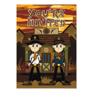 """Los sheriffs del vaquero en el fiesta de la cárcel invitación 5"""" x 7"""""""