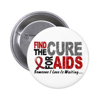 Los SIDA/VIH encuentran la curación 1 Pin Redondo De 2 Pulgadas