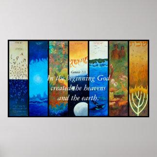 LOS SIETE DÍAS DE CREACIÓN, en el principio van… Póster