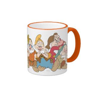 Los siete enanos 2 taza de dos colores