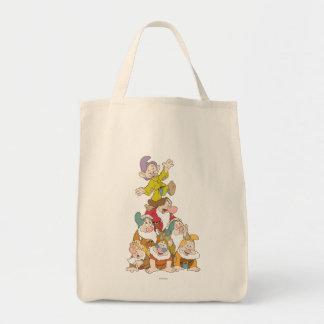 Los siete enanos 5 bolsa tela para la compra