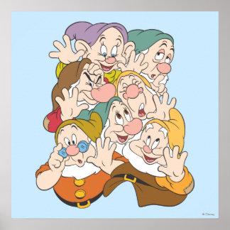 Los siete enanos poster