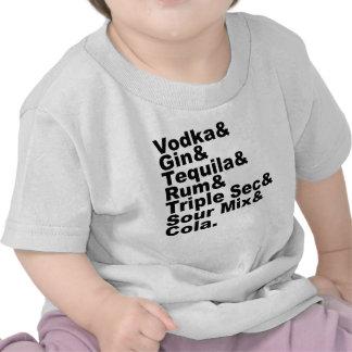 Los siete ingredientes en Long Island helaron té Camisetas
