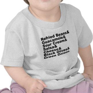 Los siete ingredientes en una inmersión de siete c camiseta