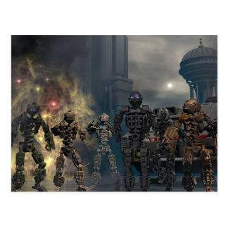 los siete robots gloriosos b tarjetas postales