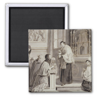Los siete sacramentos: Comunión, 1779 (pluma, marr Imán Cuadrado