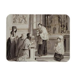 Los siete sacramentos: Comunión, 1779 (pluma, marr Imán Rectangular