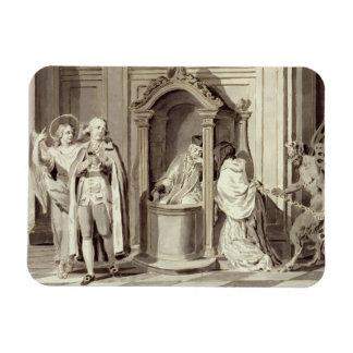 Los siete sacramentos: Confesión, 1779 (pluma, mar Iman Rectangular