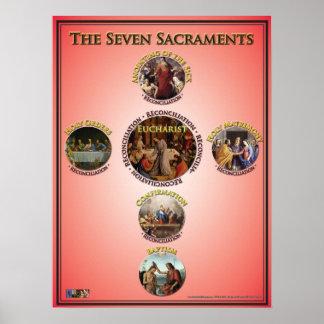 Los siete sacramentos poster