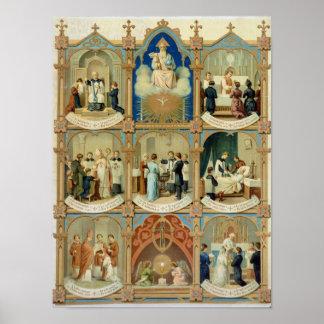 Los siete sacramentos póster