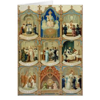 Los siete sacramentos tarjeta de felicitación