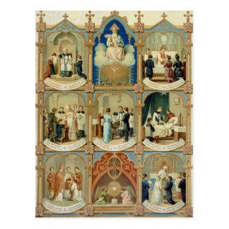 Los siete sacramentos tarjeta postal