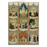 Los siete sacramentos tarjetón