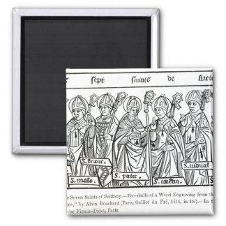 Los siete santos de Bretaña Iman De Frigorífico