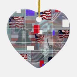 Los símbolos patrióticos ornamento de navidad