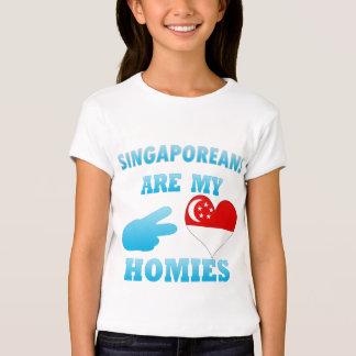 Los singapurenses son mi Homies Playera