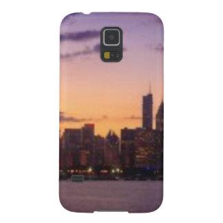 Los sistemas del sol sobre el horizonte de Chicago Funda De Galaxy S5