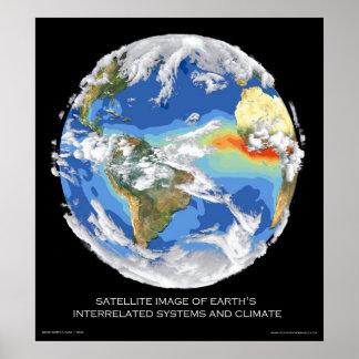 Los sistemas y el clima de la tierra por satélite  posters