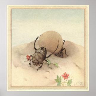 Los SISYPHUS - Ejemplo de libro del insecto Posters