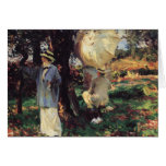 Los Sketcher por Sargent, arte del Victorian del Felicitaciones