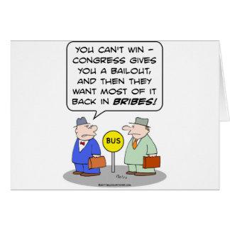 los sobornos traseros de los congeress del desaloj tarjeta de felicitación