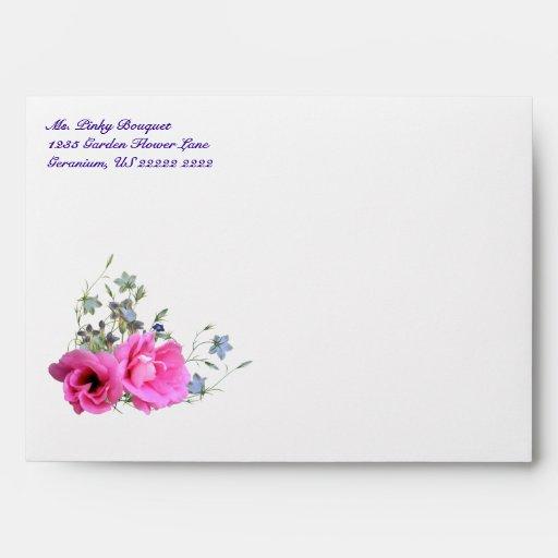 Los sobres rosados del ramo A7 de la flor - gracia