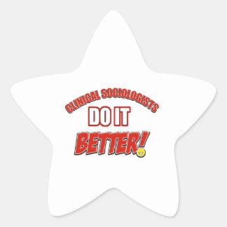 Los sociólogos clínicos mejora diseños pegatina en forma de estrella