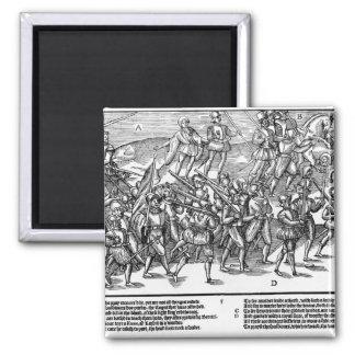 Los soldados capturan el Kerne de madera de toma d Imanes De Nevera