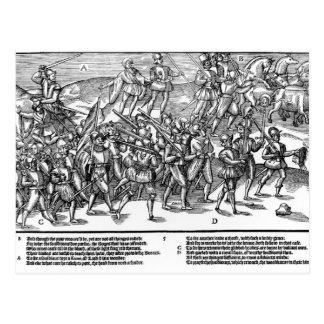 Los soldados capturan el Kerne de madera de toma d Postal