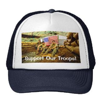 Los soldados de OEF, apoyan a nuestras tropas Gorras